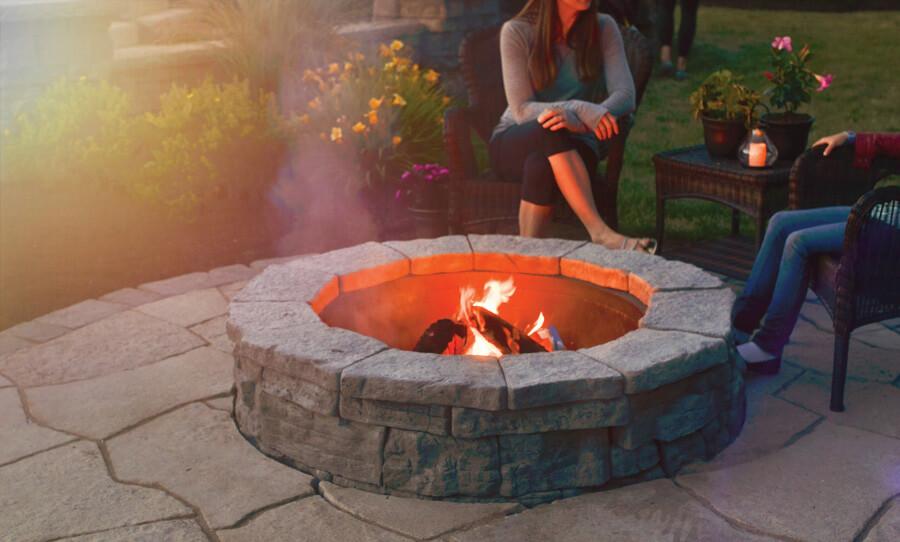 A belvedere firepit