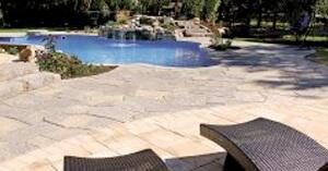 Nicolock pavers on a pool deck