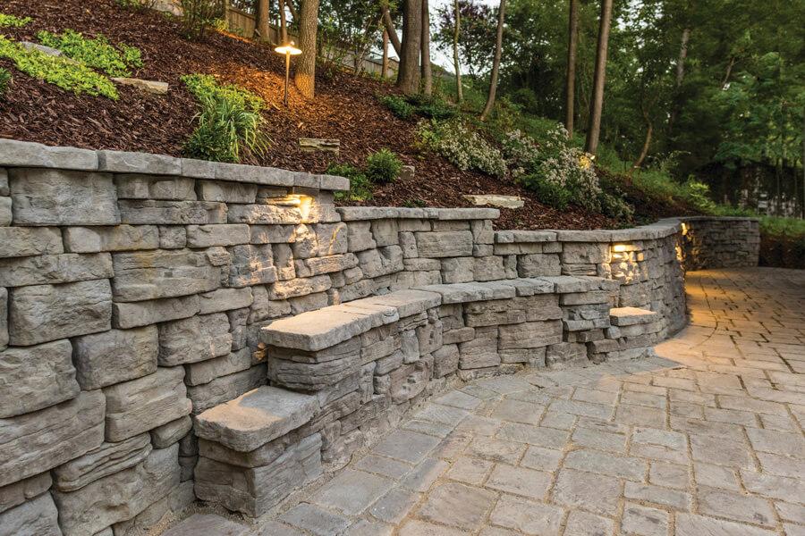 Nicolock retaining wall belvedere wall york brown