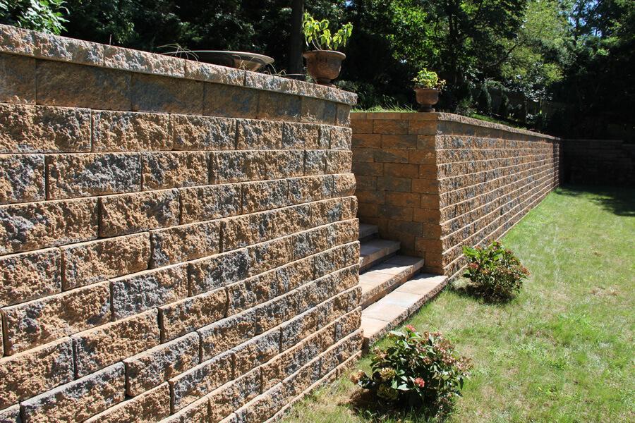 Nicolock retaining wall firma wall adobe blend