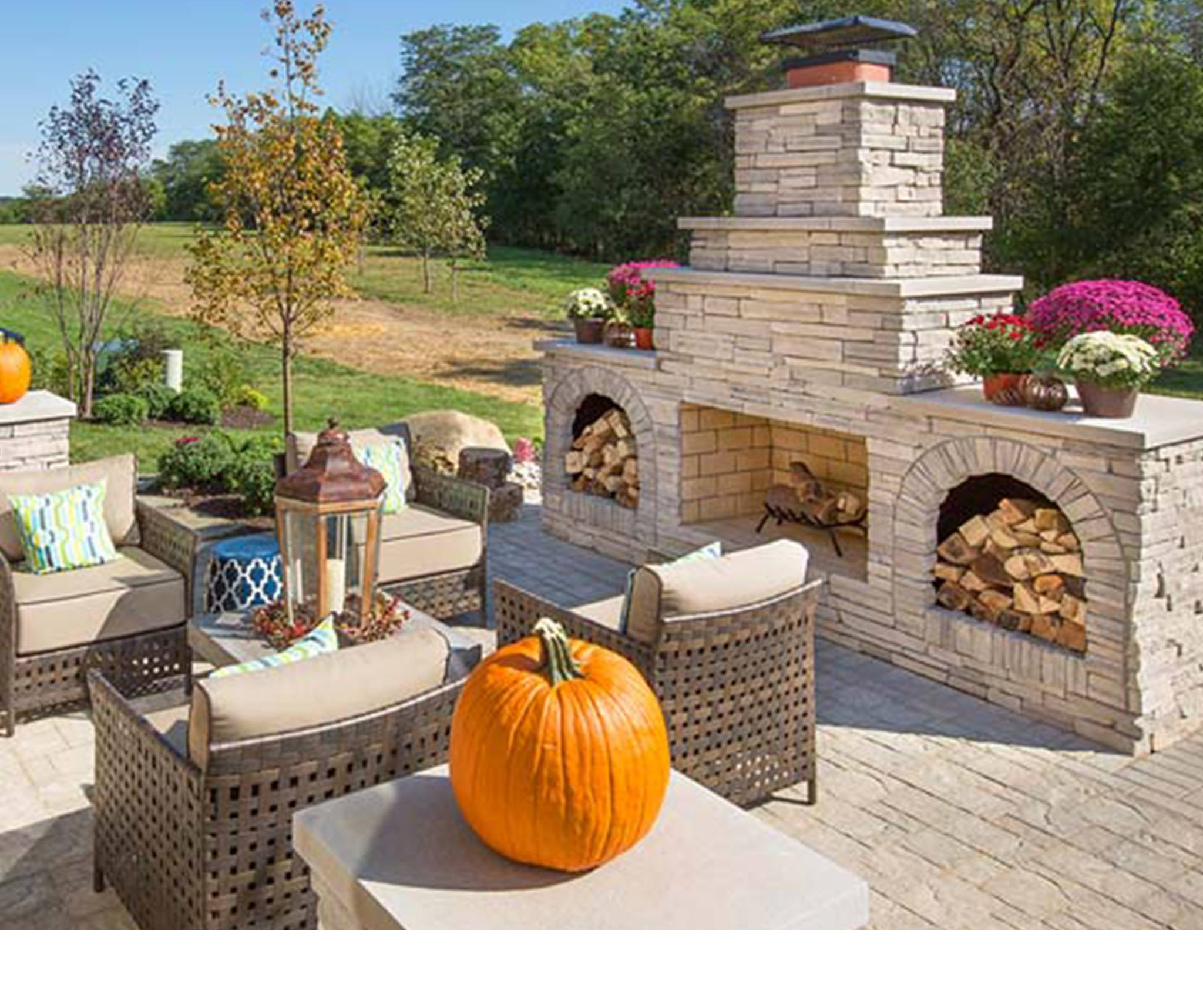 Outdoor Fireplace from Century Building Materials